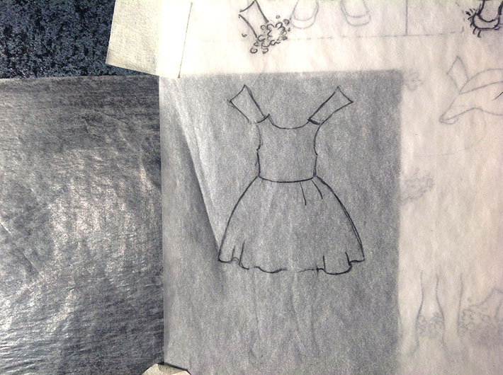 creating paper doll clothes