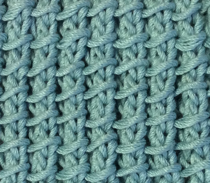 Bamboo Knitting Stitch Closeup