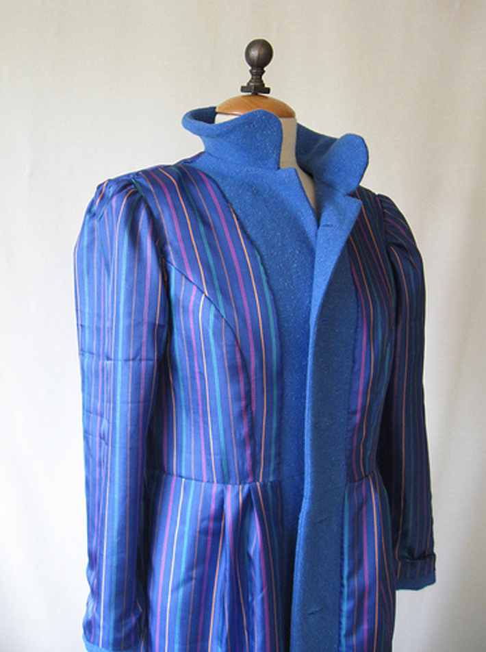 blue striped lining