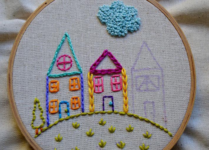 chain stitch house