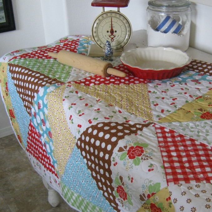 great big block quilt