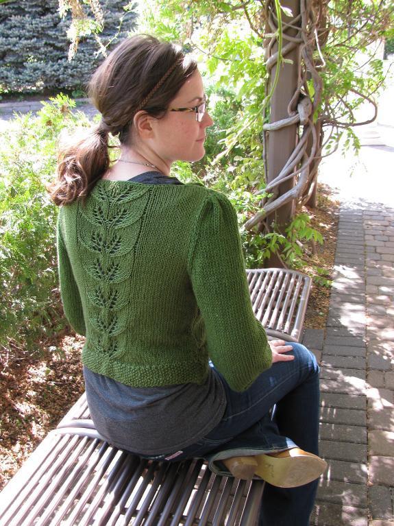 Convertible Leaf Lace Cardi Knitting Pattern