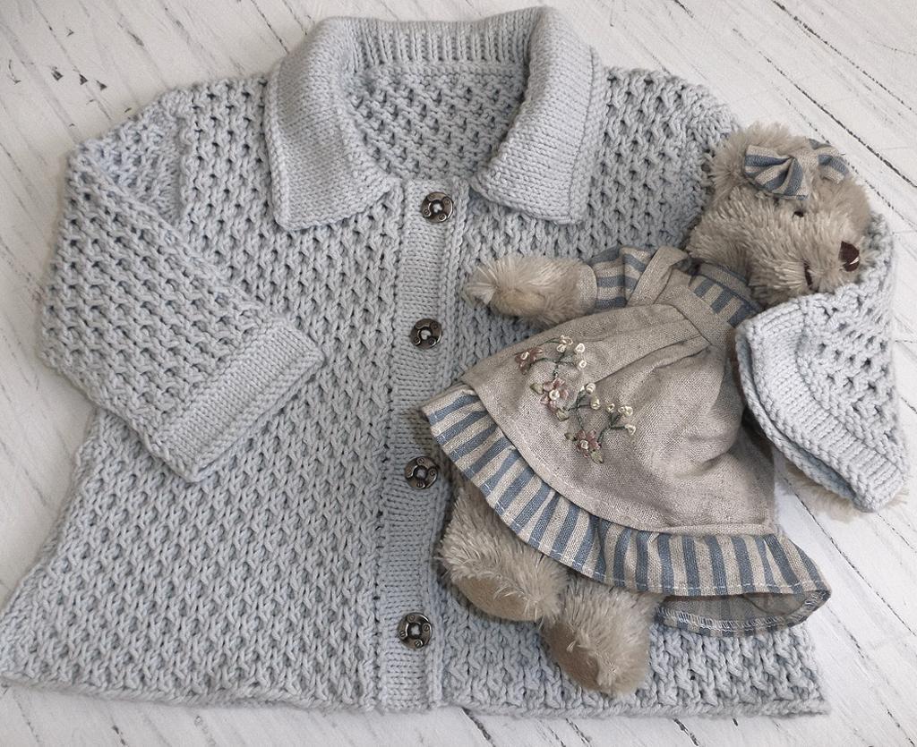 Baby Honeycomb Jacket Knitting Pattern