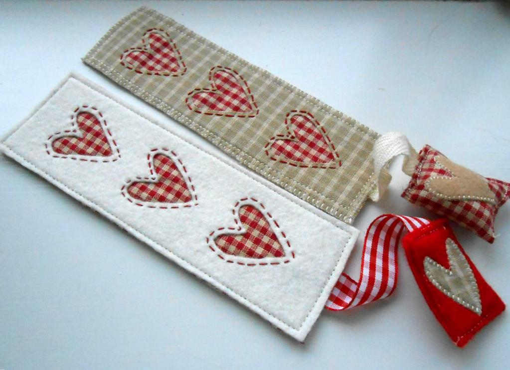 Sew a Valentine Bookmark for someone you love!