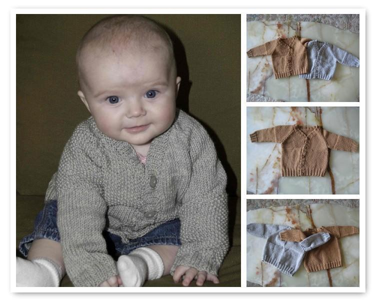 Moss Block Cardigan FREE Baby Knitting Pattern
