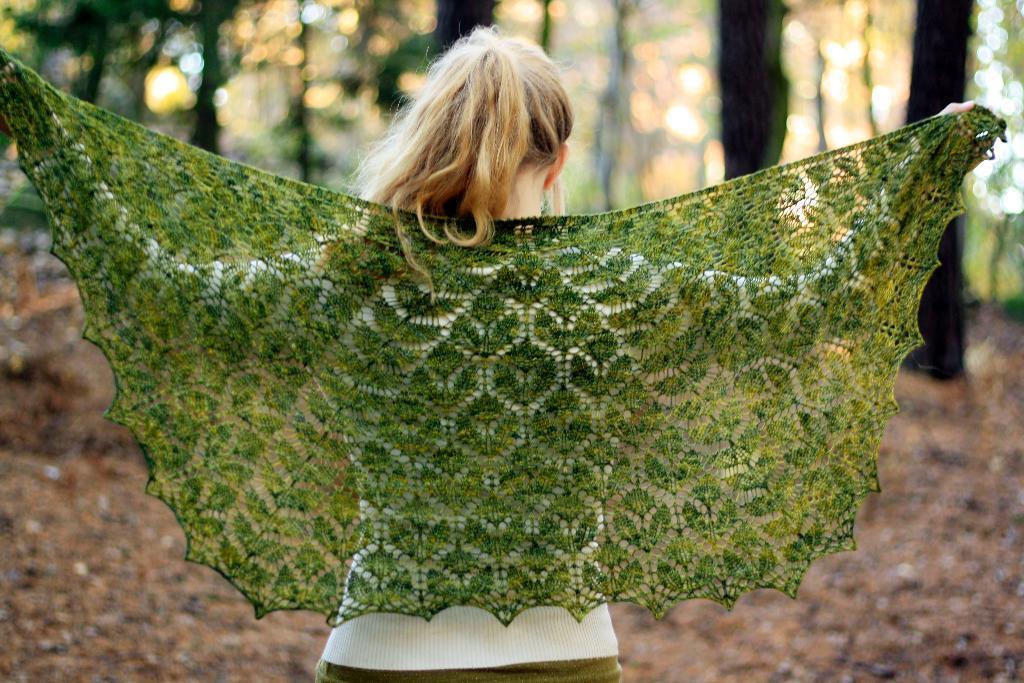 Ash Leaf Shawl Knitting Pattern