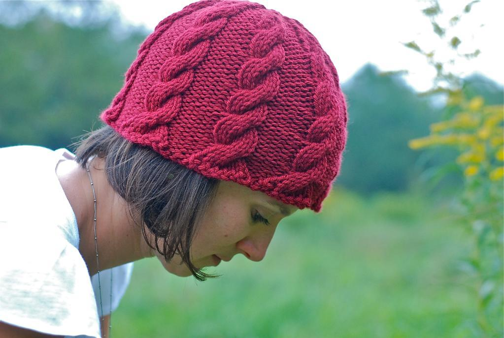 Ripple Cable Hat FREE Knitting Pattern