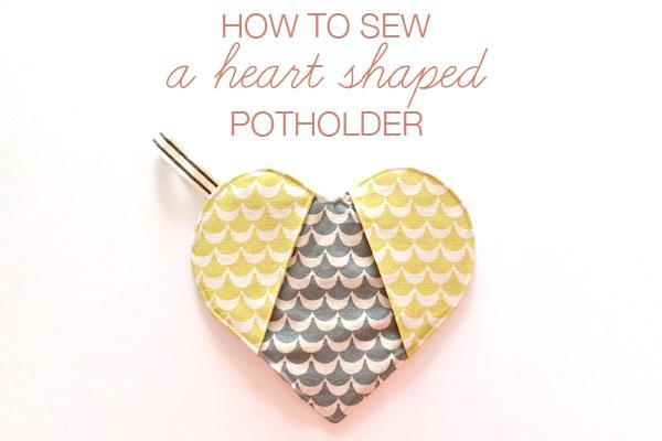 The perfect Valentine's Day gift for the cook--a heart shaped potholder