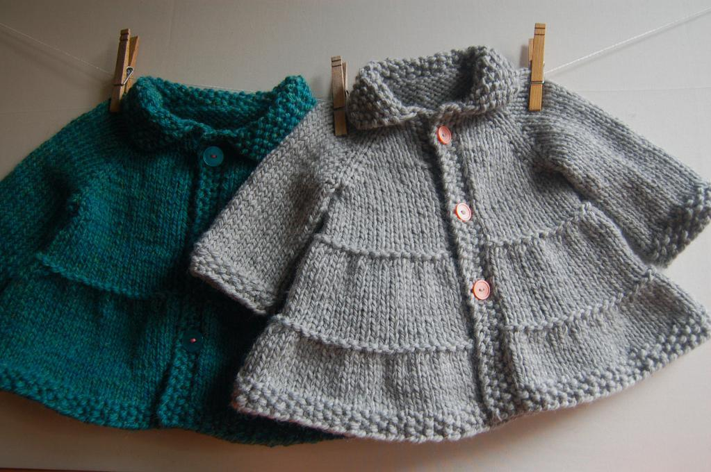 Baby + Toddler Tiered Coat and Jacket Knitting Pattern