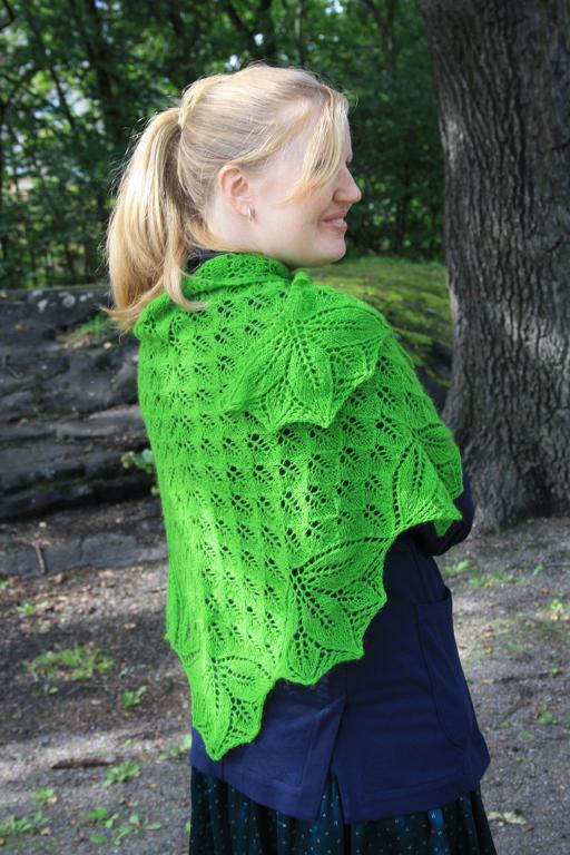 Leaf by Leaf Shawl Knitting Pattern