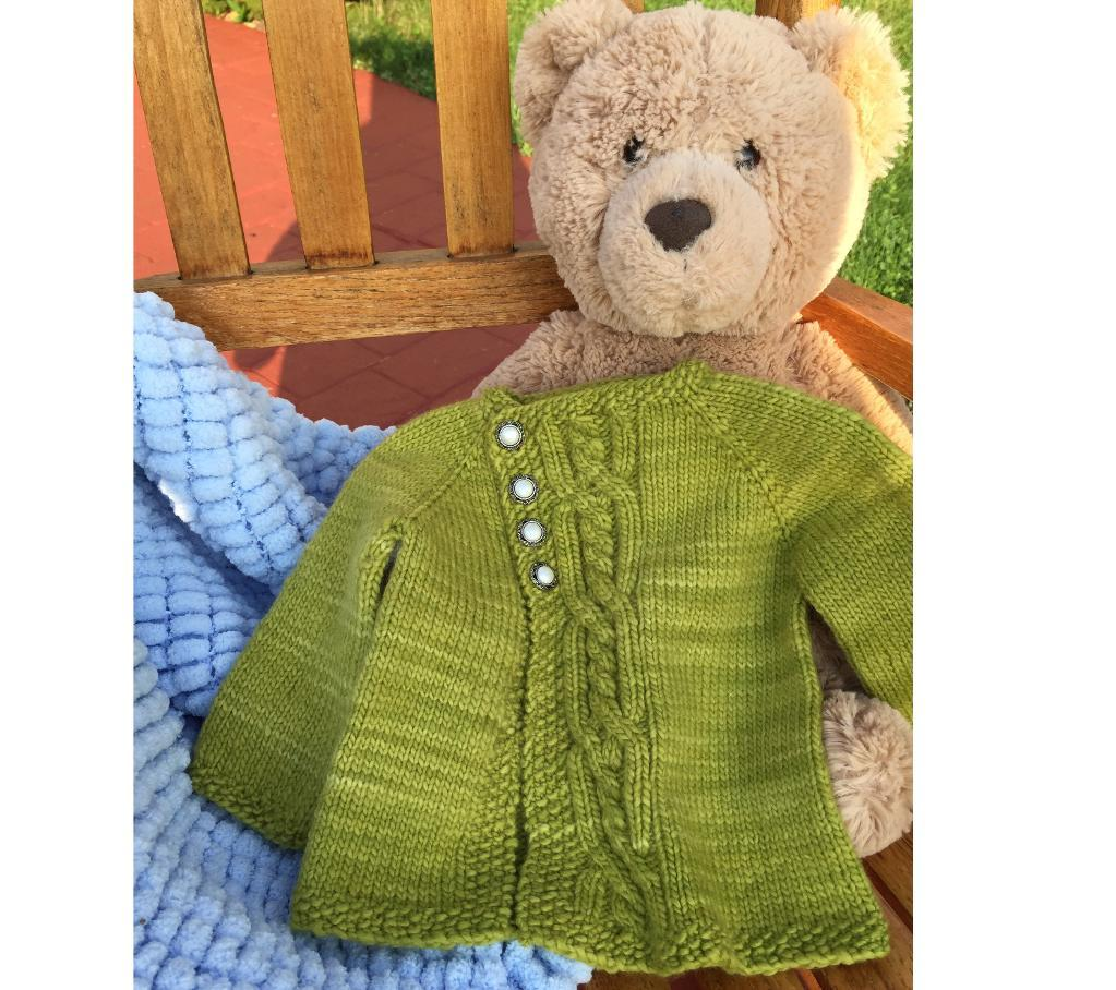 Olive You Too FREE Baby Sweater Knitting Pattern