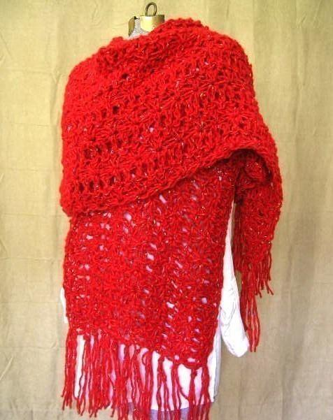 Vintage Inspired Shawl Wrap Crochet Pattern