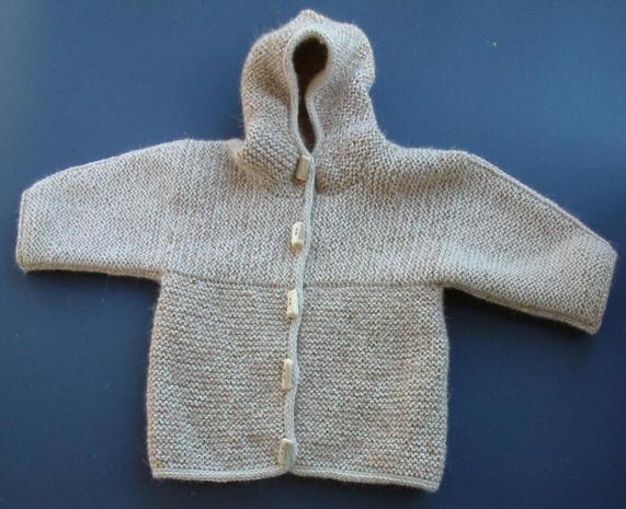 Baby's Criss-Cross Jacket Knitting Pattern