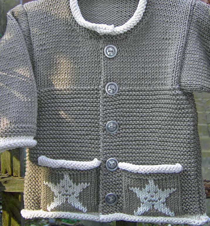 Little Star Baby Jacket Knitting Pattern