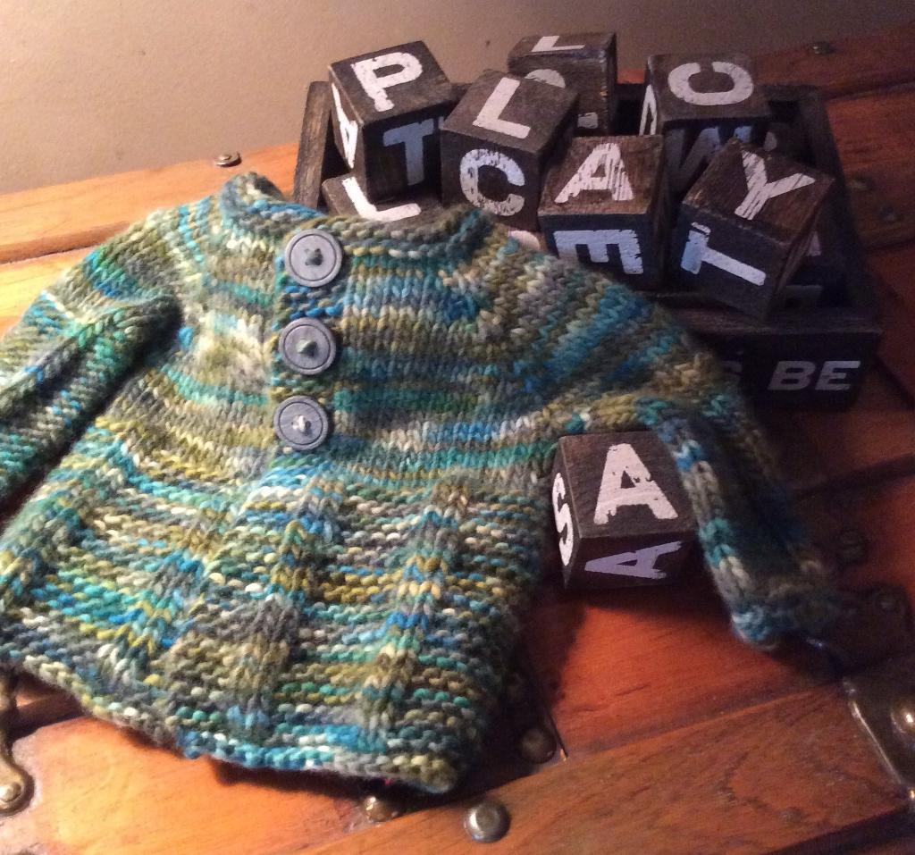 Little Greenup FREE Baby Sweater Knitting Pattern