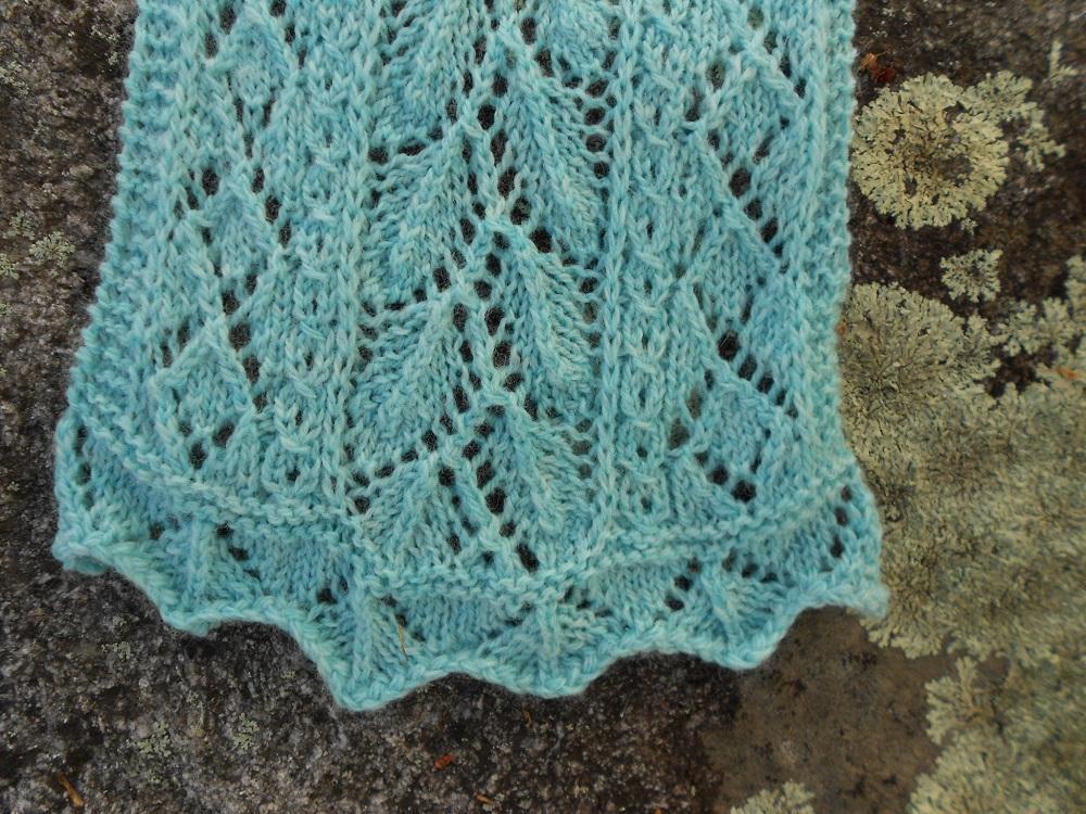 Mint Leaf Lace Scarf Knitting Pattern