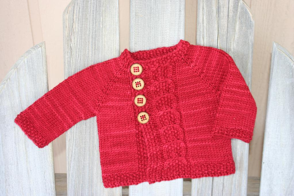 Olive You FREE Baby Sweater Knitting Pattern