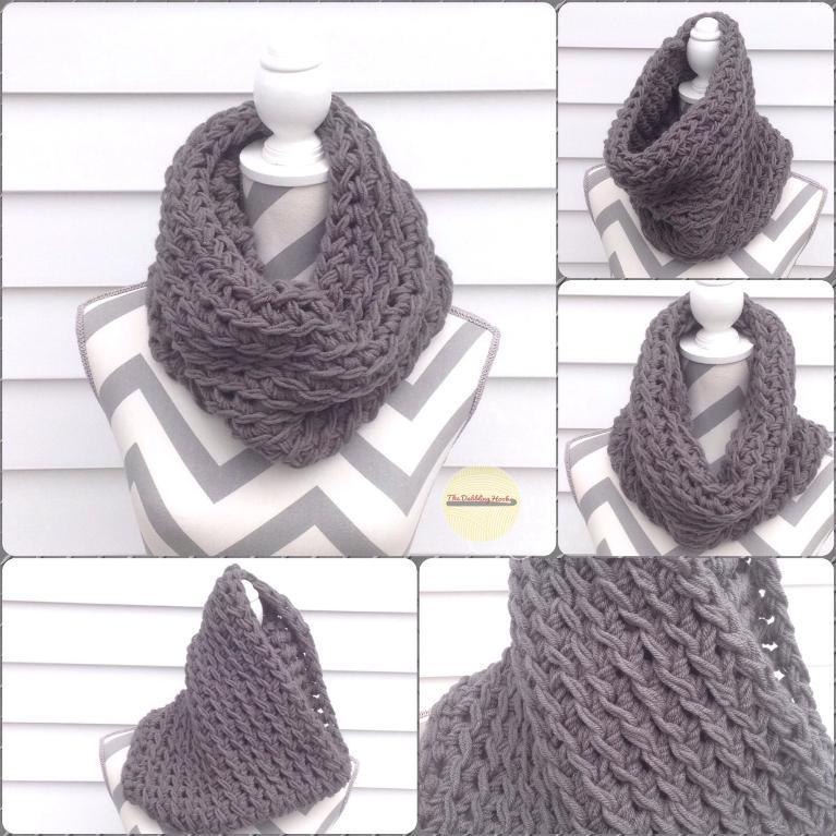 Squish Cowl FREE Crochet Pattern