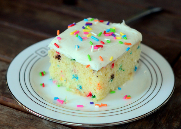 Homemade Funfetti Sheet Cake