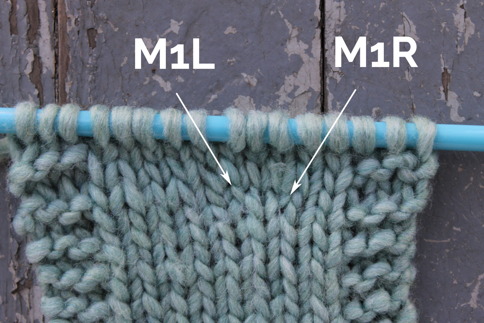 M1L and M1R in knitting