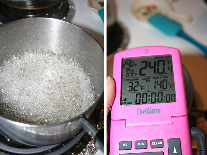 Sugar mixture for Italian meringue buttercream