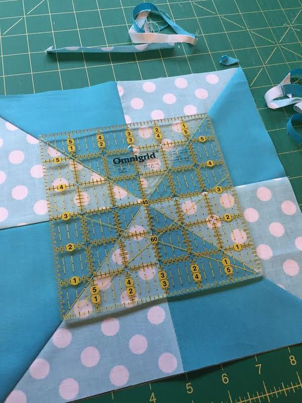how to trim big quilt blocks
