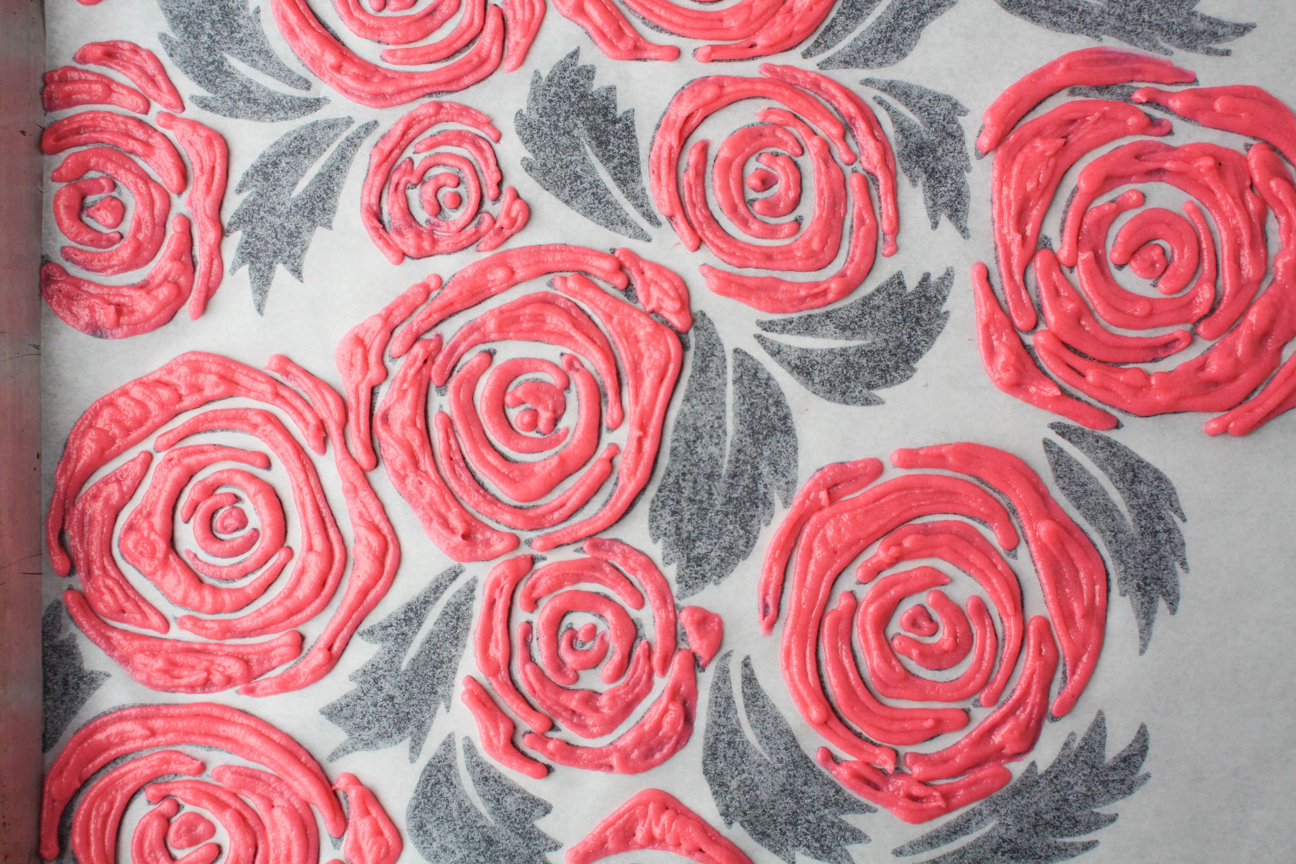 Piped Rose Roll Cake Design | Erin Gardner | Bluprint