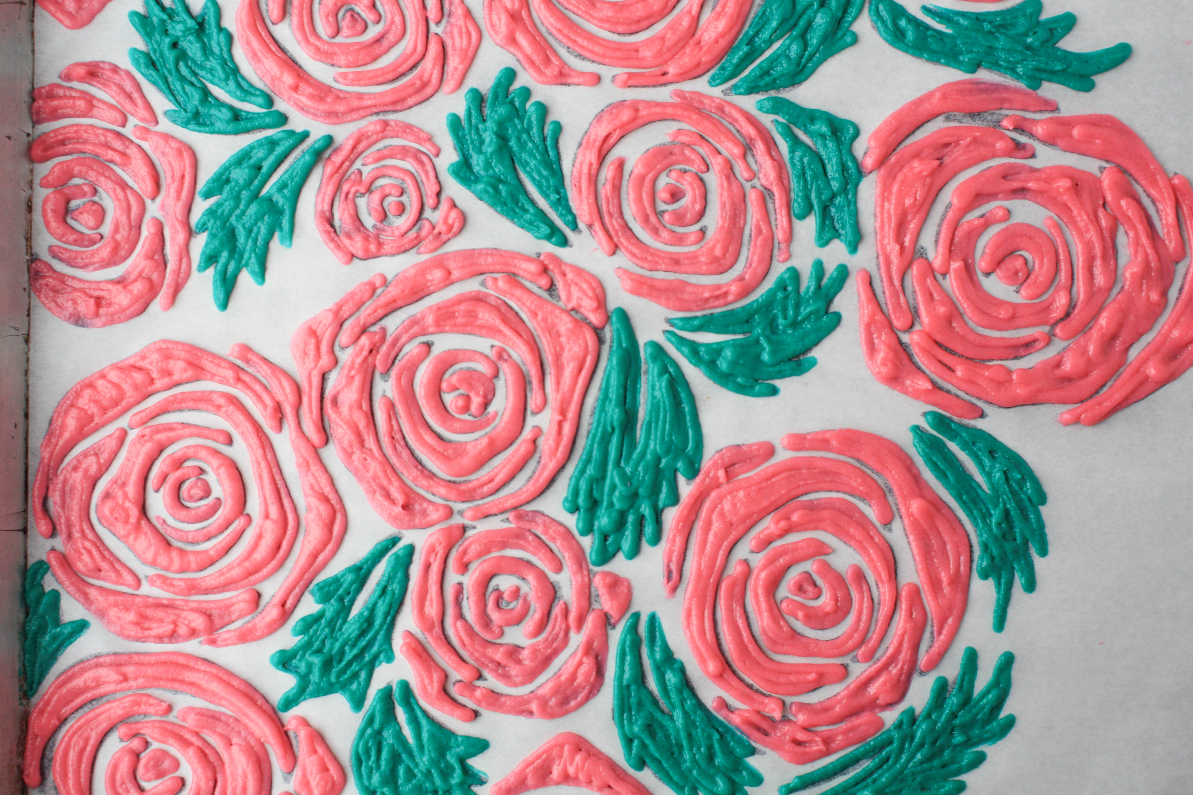 Piped Roses and Leaves Roll Cake Design   Erin Gardner   Bluprint