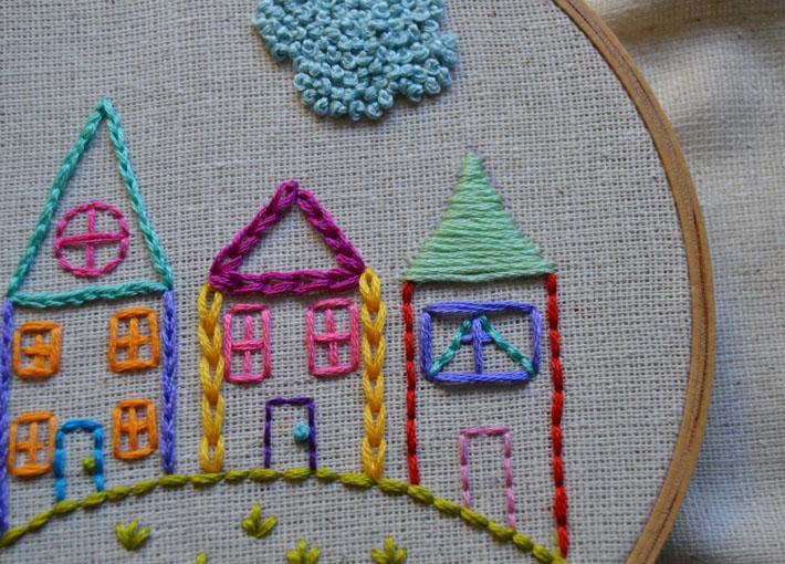satin stitch a roof