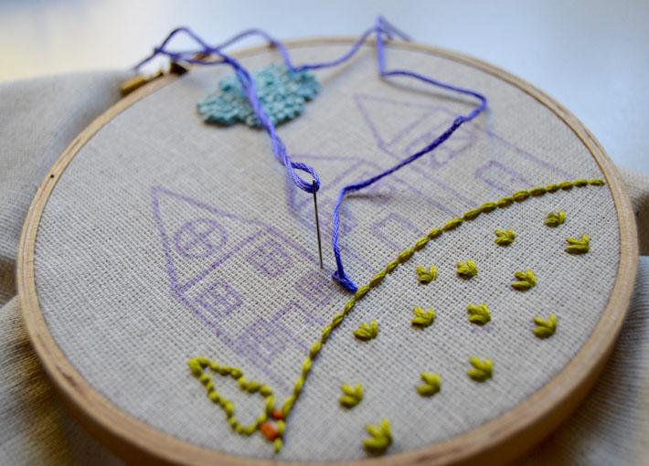 split stitch a house
