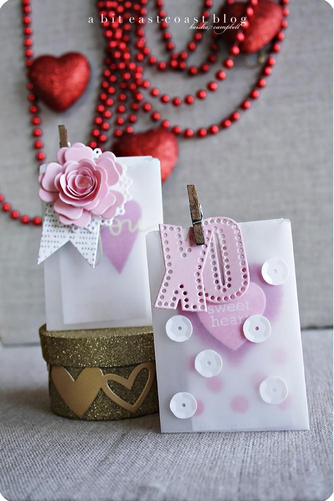 Vellum Valentine Pouches