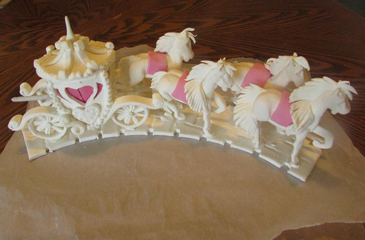 Fantasy carousel cake