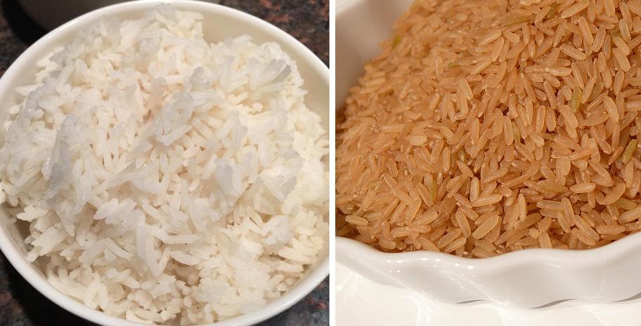 Brown versus white rice