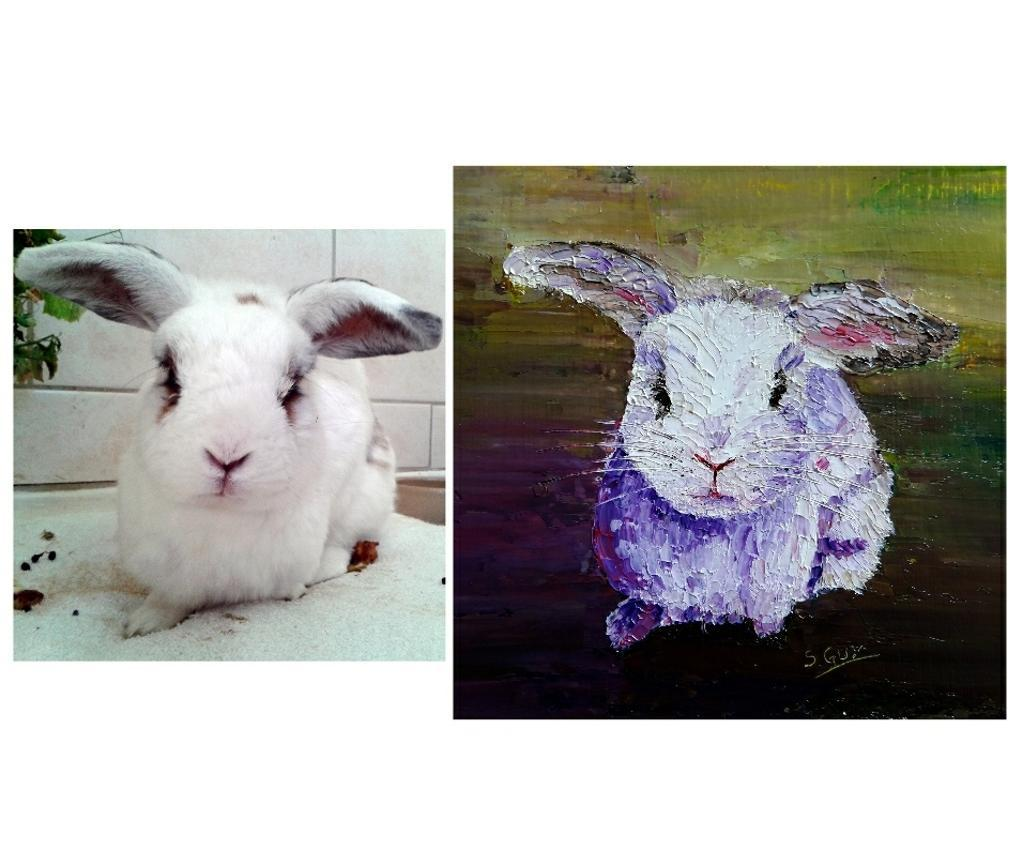 Realistic Bunny Painting