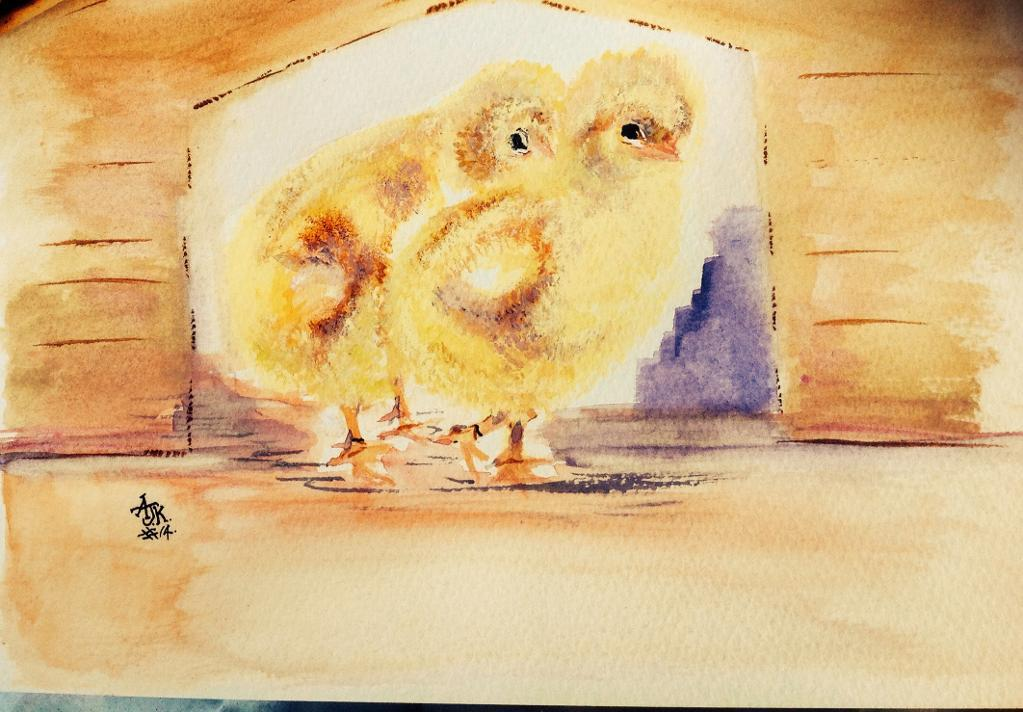 Painting of Baby Chicks