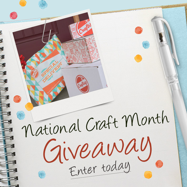 craftsy's national craft month giveaway