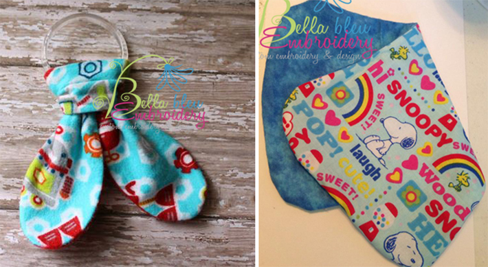 Bella bleu ITH baby projects