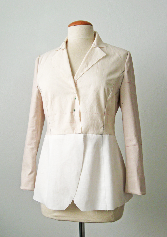 jacket muslin with practice lapels