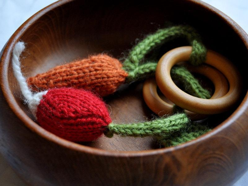 Carrot and Radish Teething Rings