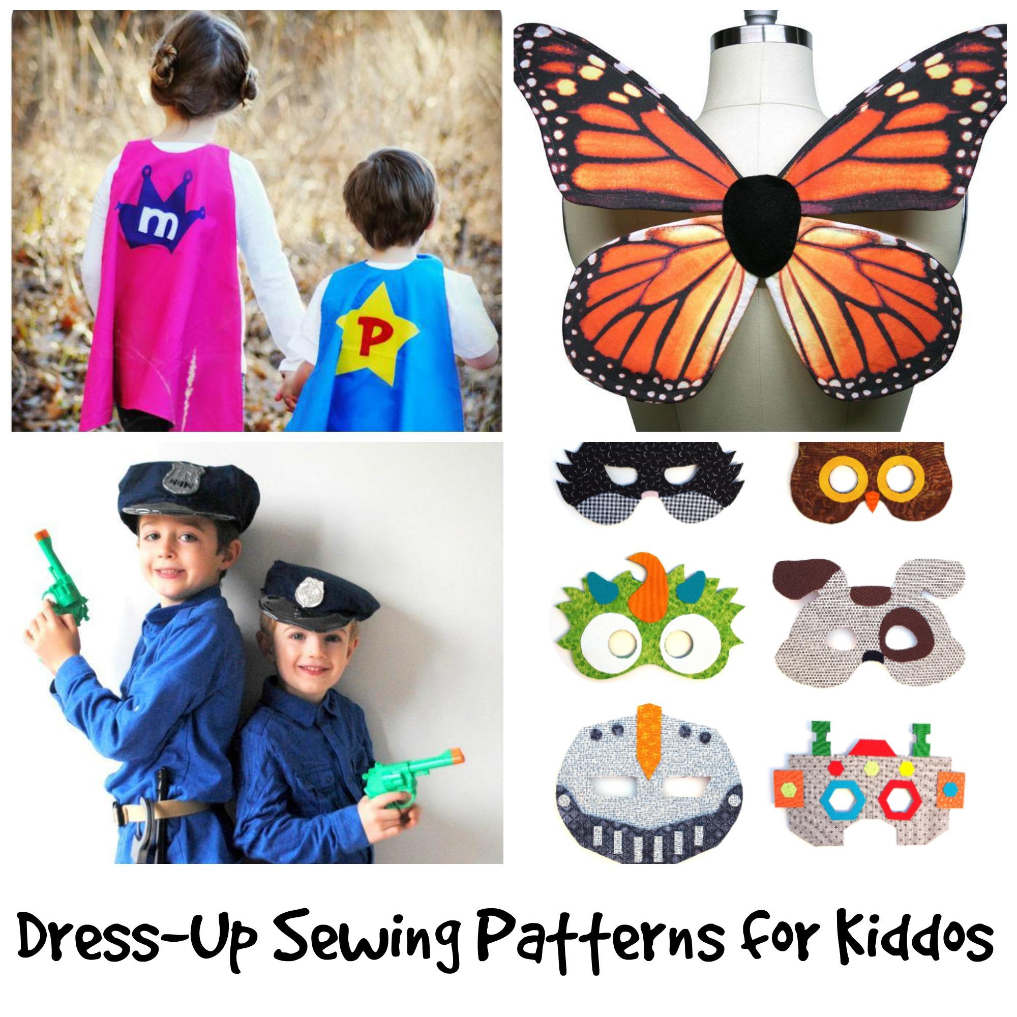DIY Dress Up Sewing Patterns for Kids