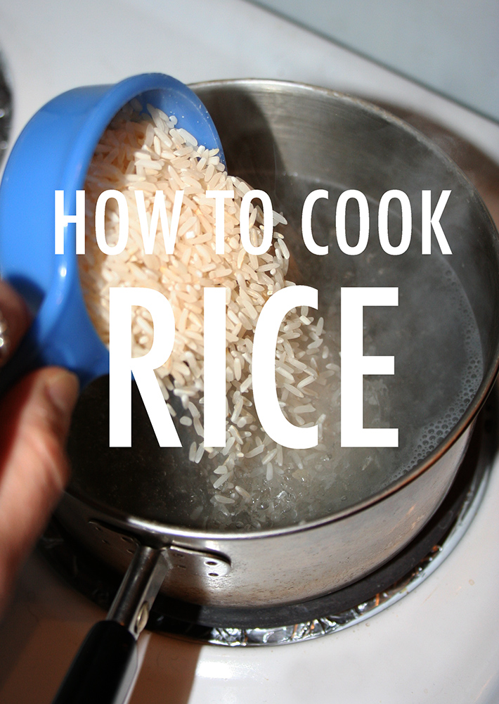 Go back to basics and learn how to cook rice properly!