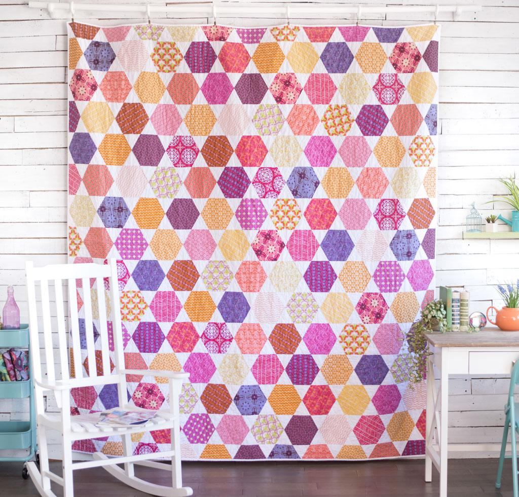 FreeSpirit Hexagon Bed Quilt Kit - Available on Bluprint.com