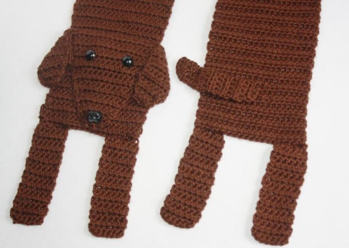 Crochet Dachshund Scarf