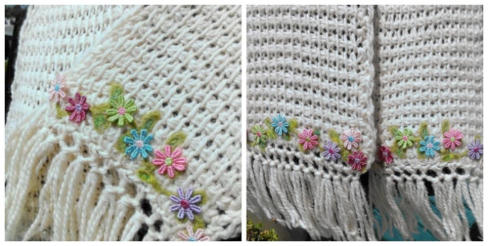 Quick and Easy Flower Edged Scarf