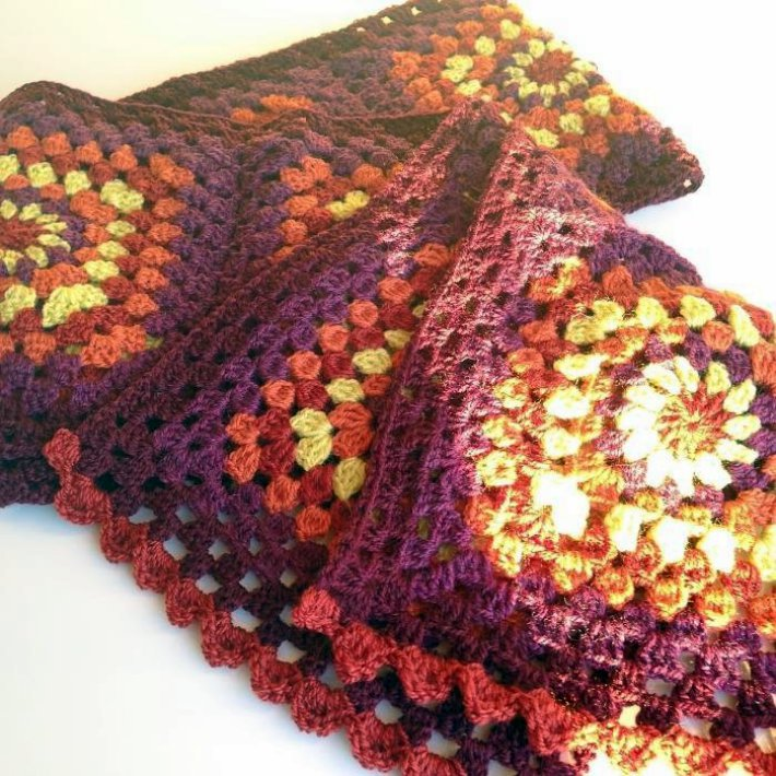 Sammhain scarf in rich fall colours