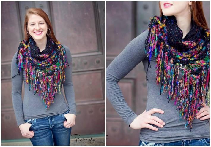Creative Crochet Scarves: urban boho scarf