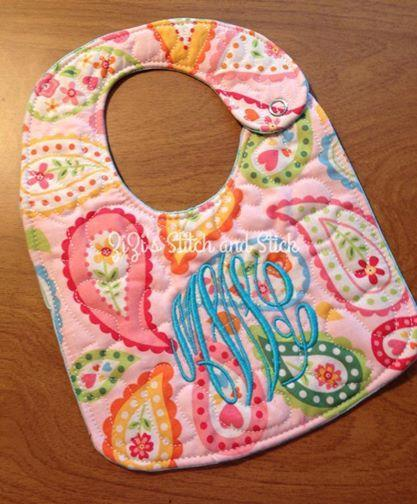 ITH Quilted Baby Bib