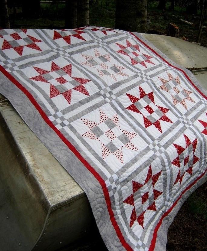 Lattice Star quilt pattern