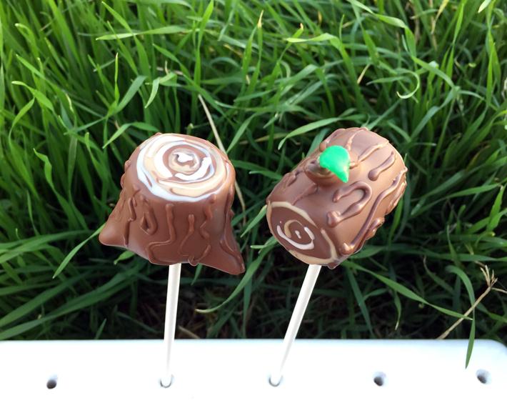 Lumberjack cake pops