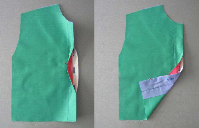 Finished buttonhole placket